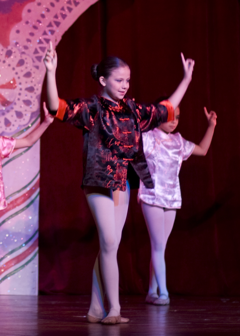 Students performing in the Nutcracker