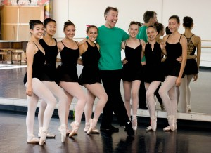 Advanced dancers after class with Mr. Jerry Kokich