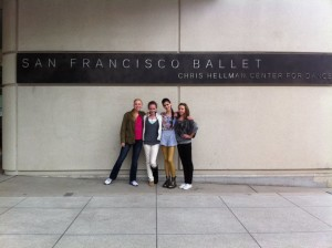 Alexandra and Friends in Front of the SFB Building